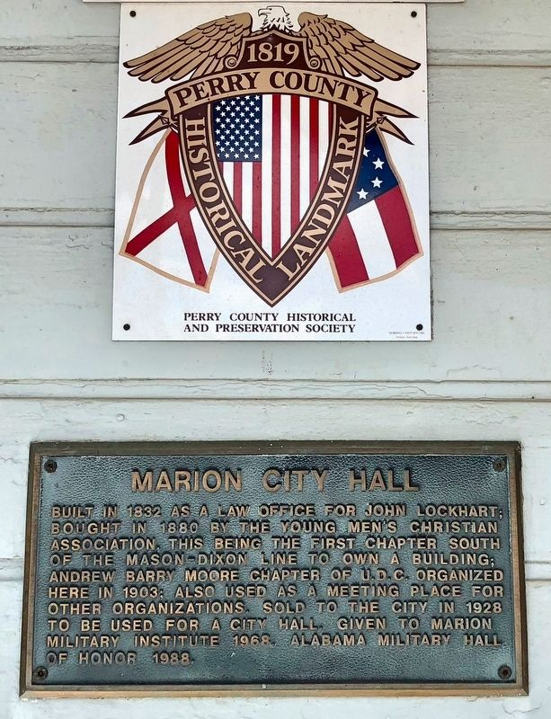 Marion City Hall Marker image. Click for full size.