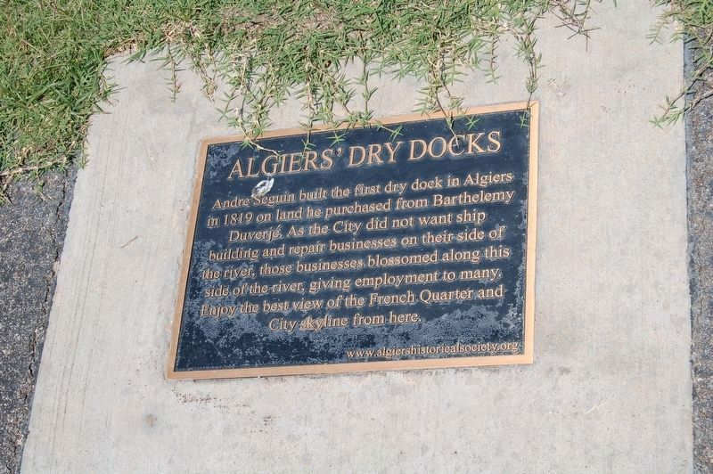 Algiers' Dry Docks Marker image. Click for full size.
