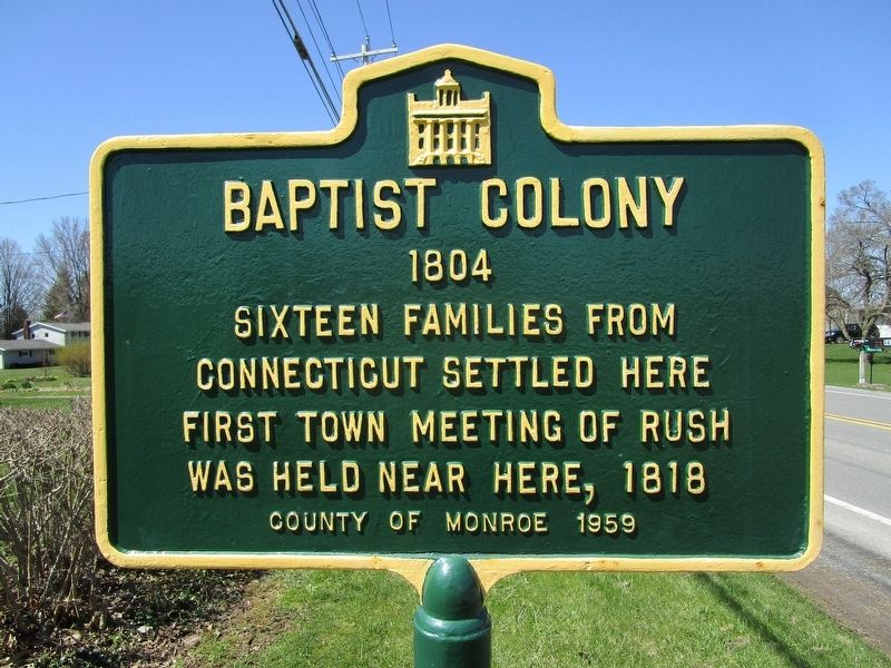 Baptist Colony Marker image. Click for full size.