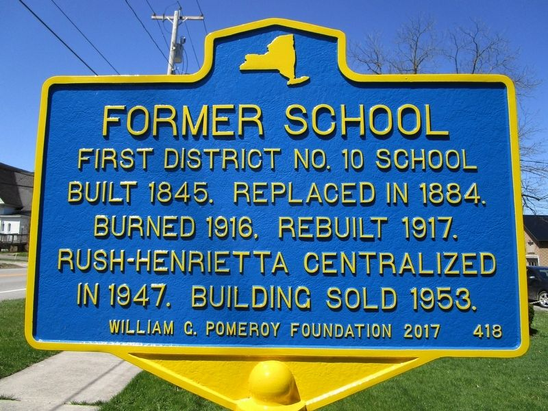 Former School Marker image. Click for full size.