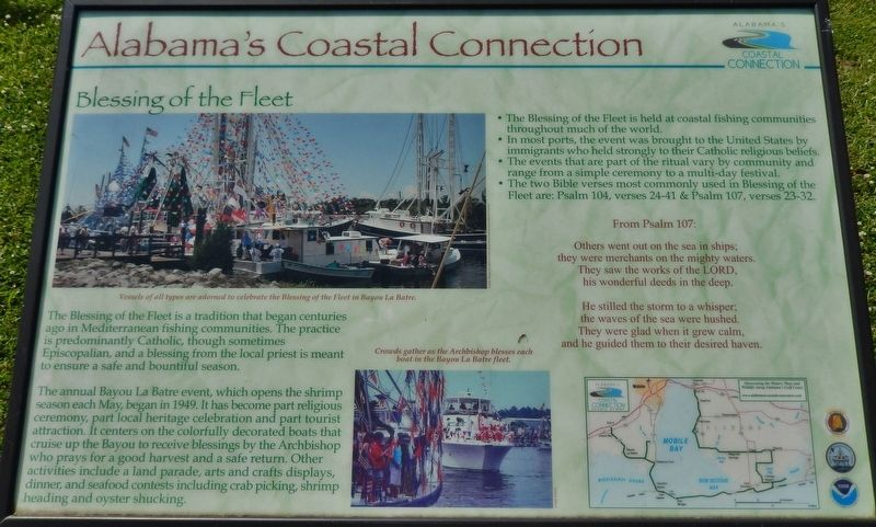 Alabama's Coastal Connection Marker image. Click for full size.