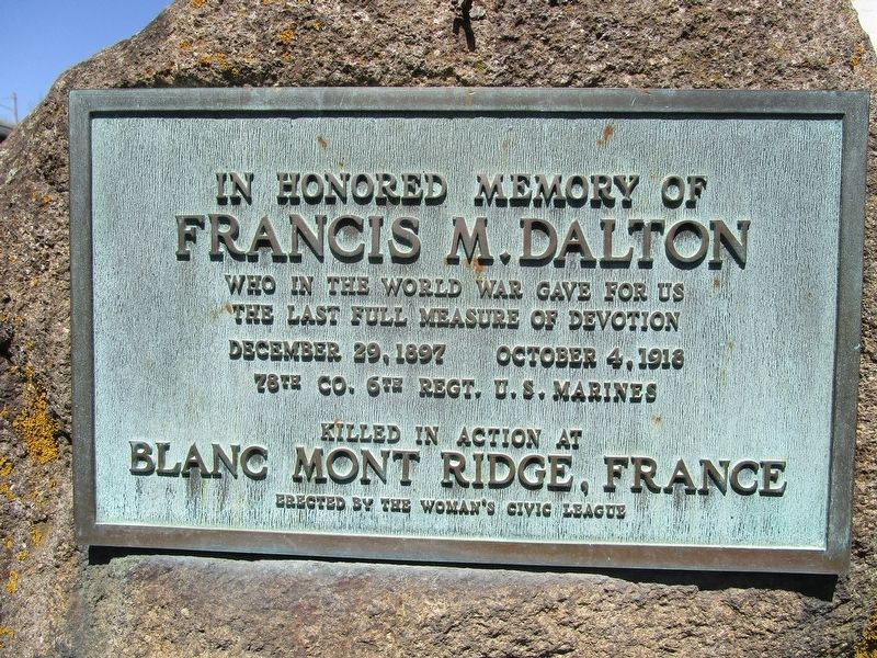 Francis M. Dalton Memorial image. Click for full size.