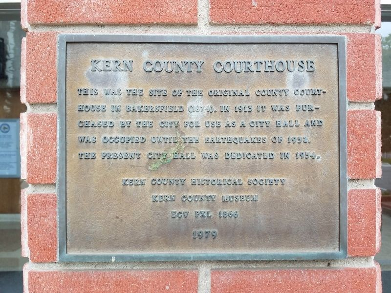 Kern County Courthouse Marker image. Click for full size.