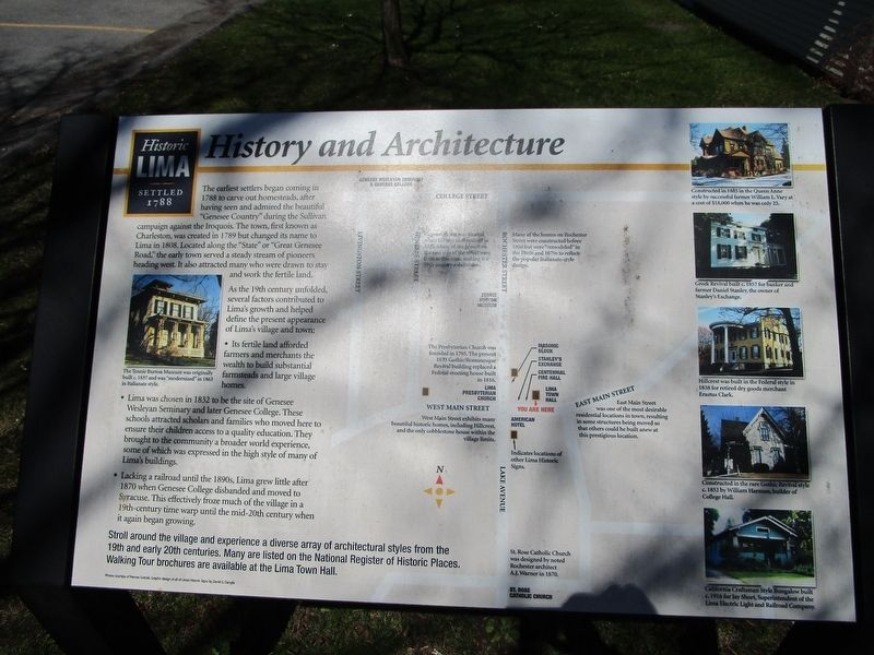 History and Architecture Marker image. Click for full size.