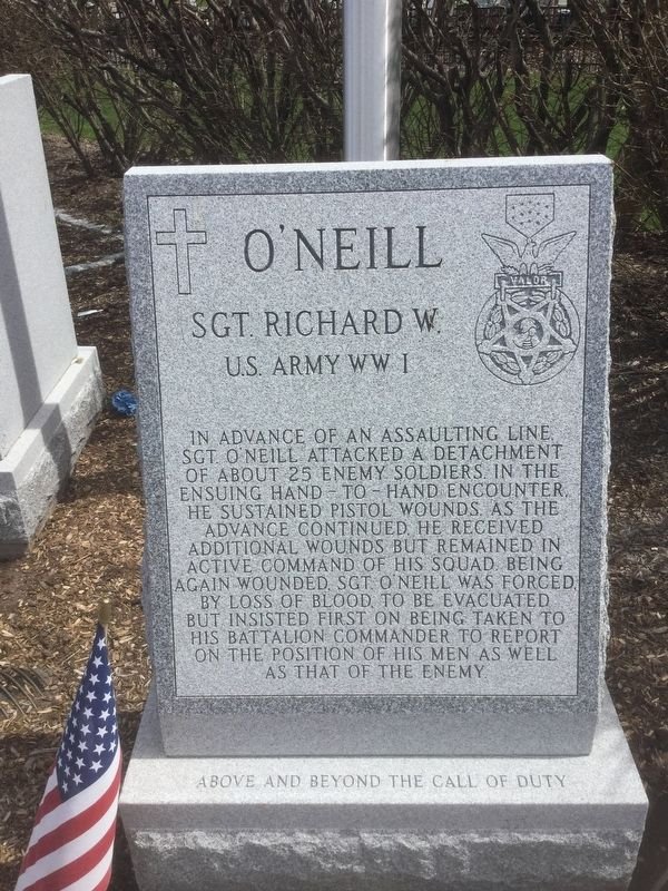 O'Neill, Sgt. Richard W. Marker image. Click for full size.