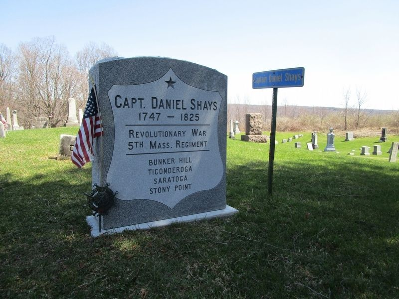 Capt. Daniel Shays Gravesite image. Click for full size.