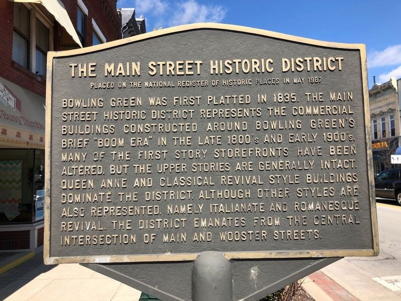 The Main Street Historic District Marker image. Click for full size.