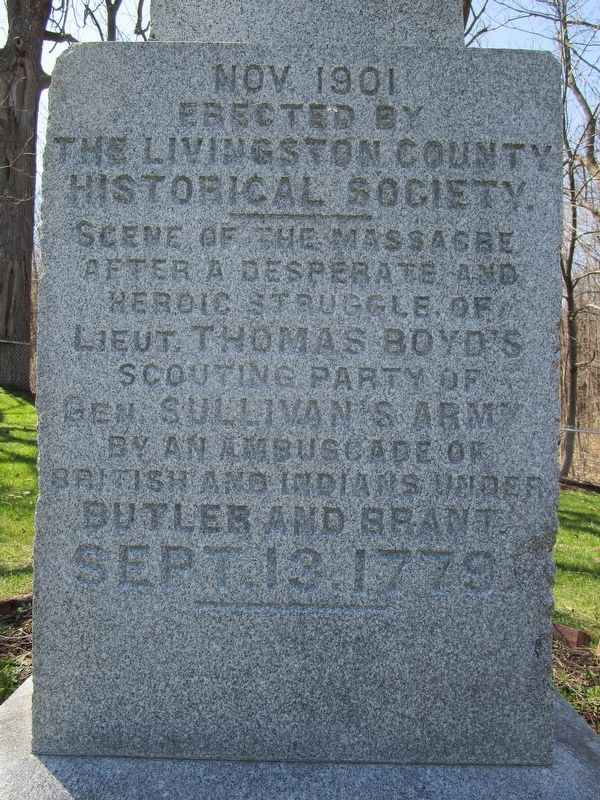 Groveland Ambuscade Monument - Left image. Click for full size.