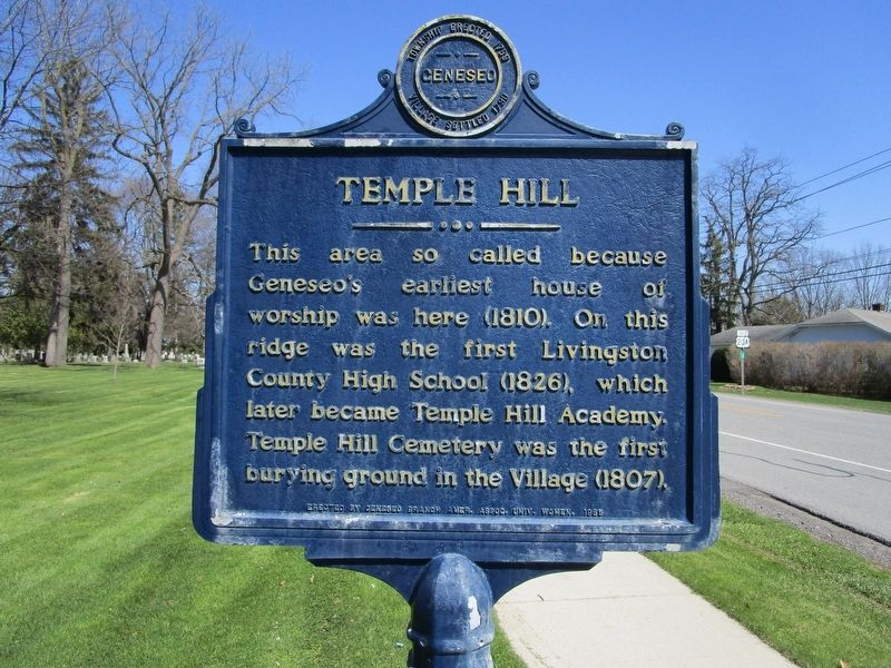 Temple Hill Marker image. Click for full size.