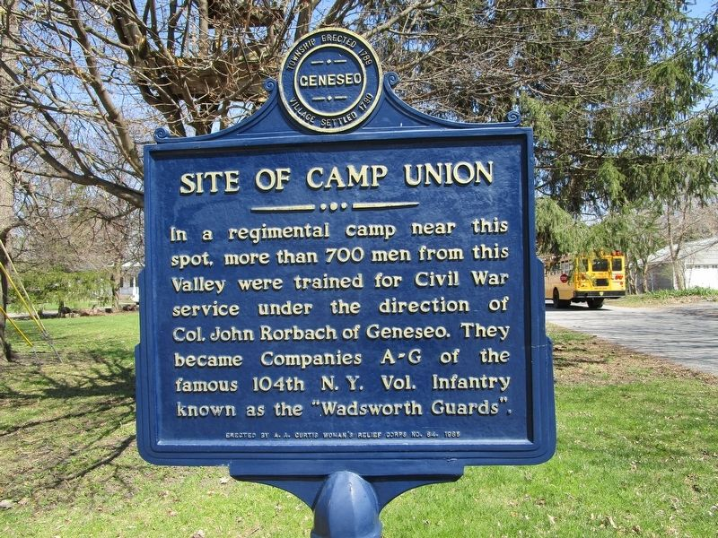 Site of Camp Union Marker image. Click for full size.