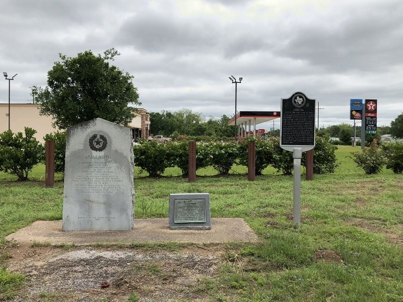 Three Markers Located at Hwy. 146 & FM 1011 image. Click for full size.