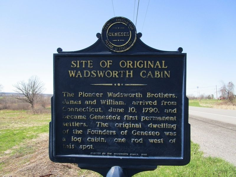 Site of Original Wadsworth Cabin Marker image. Click for full size.