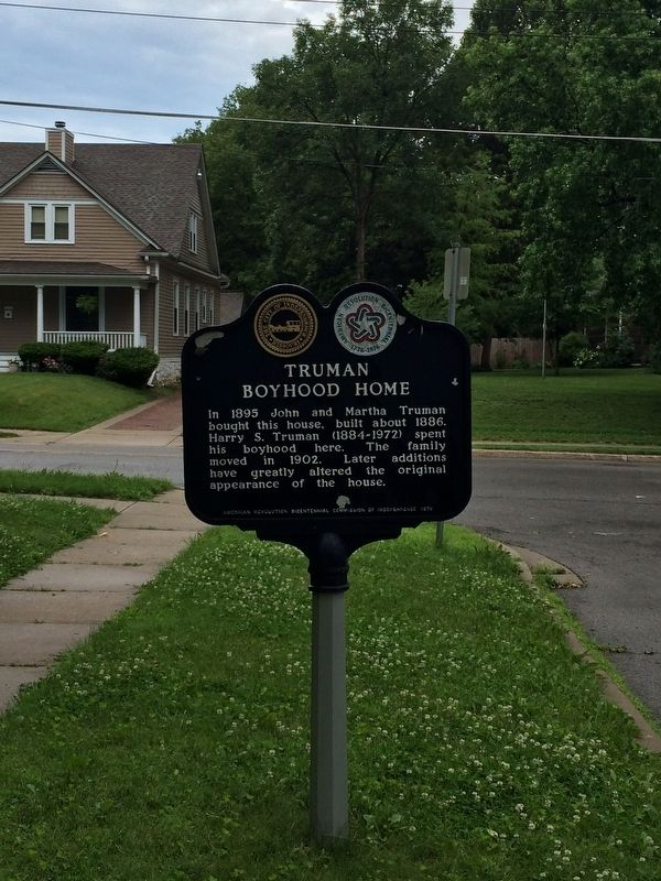 Truman Boyhood Home Marker image. Click for full size.