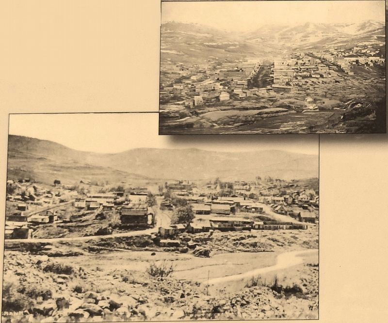 Marker detail: Virginia City, 1866 image. Click for full size.