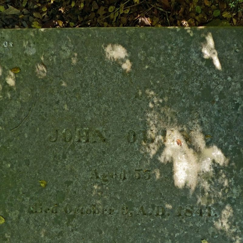 John Owen<br>Aged 55<br>died October 9, A.D. 1841 image. Click for full size.