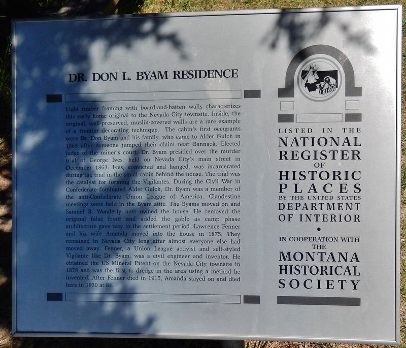 Dr. Don L. Byam Residence Marker image. Click for full size.