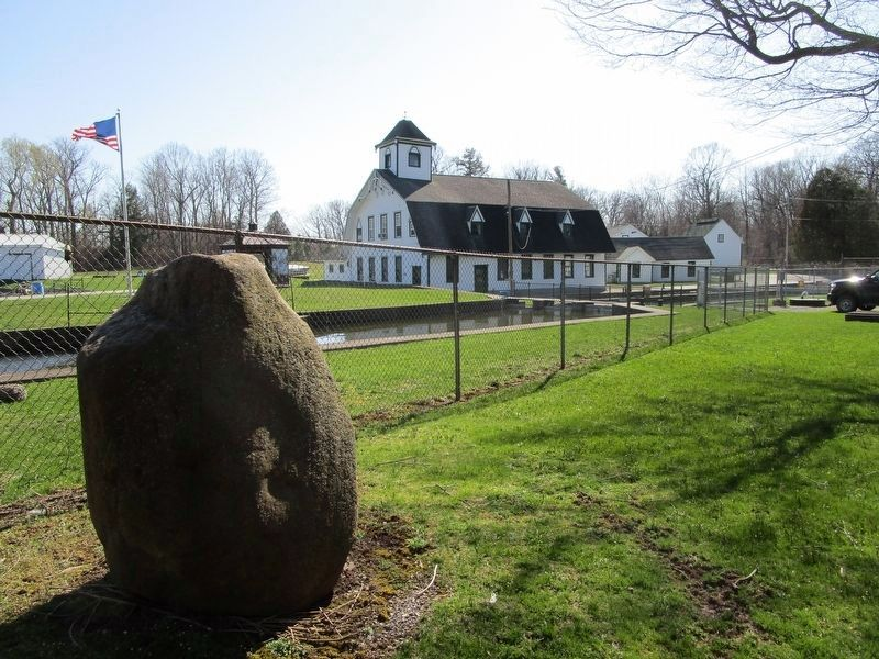 Seth Green Marker Boulder & Hatchery image. Click for full size.