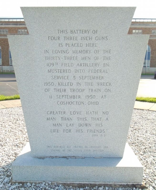 109th Field Artillery Battalion Memorial Marker image. Click for full size.