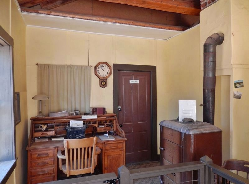 "Virginia City Water Company Office, circa 1931 (<i>inside ""Hangman's Building""</i>) image. Click for full size."
