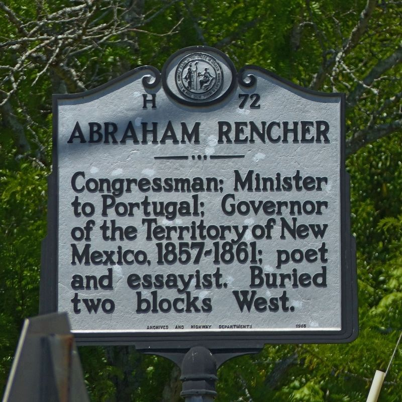 Abraham Rencher Marker image. Click for full size.