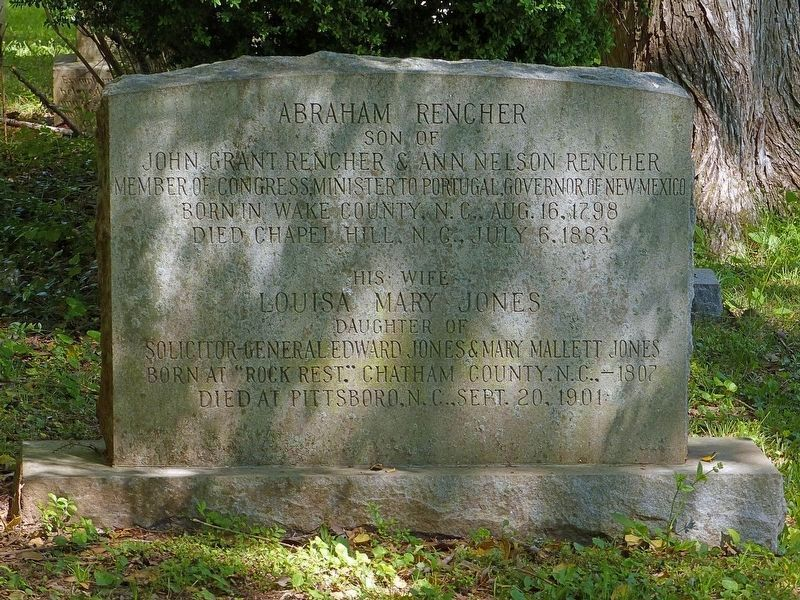 Grave of Abraham Rencher<br>In St. Bartholomew's Churchyard image. Click for full size.