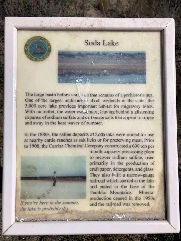 Soda Lake Marker image. Click for full size.