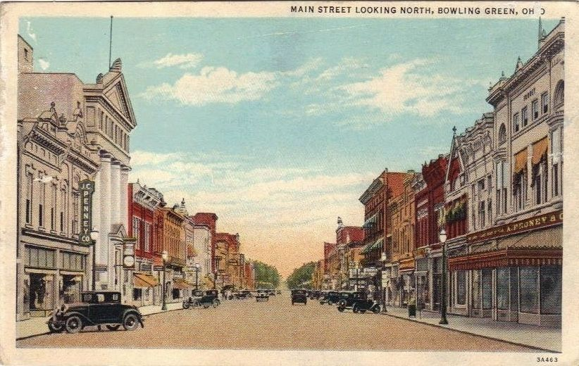 Main Street Looking North Bowling Green, Ohio image. Click for full size.
