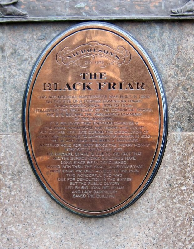 The Black Friar Marker image. Click for full size.