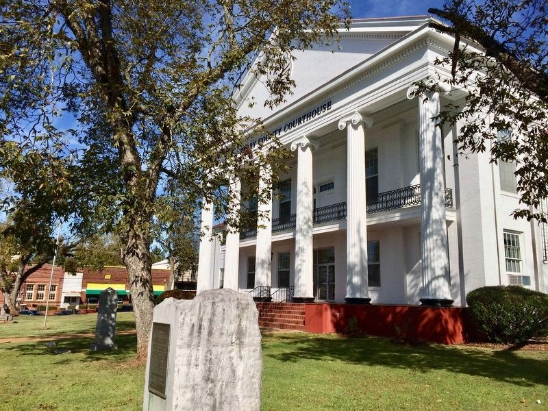 Perry County Veterans Memorial can be seen just to left of the tree. image. Click for full size.