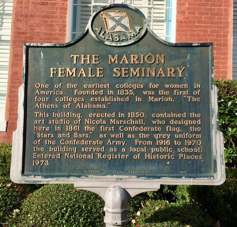 The Marion Female Seminary Marker image. Click for full size.