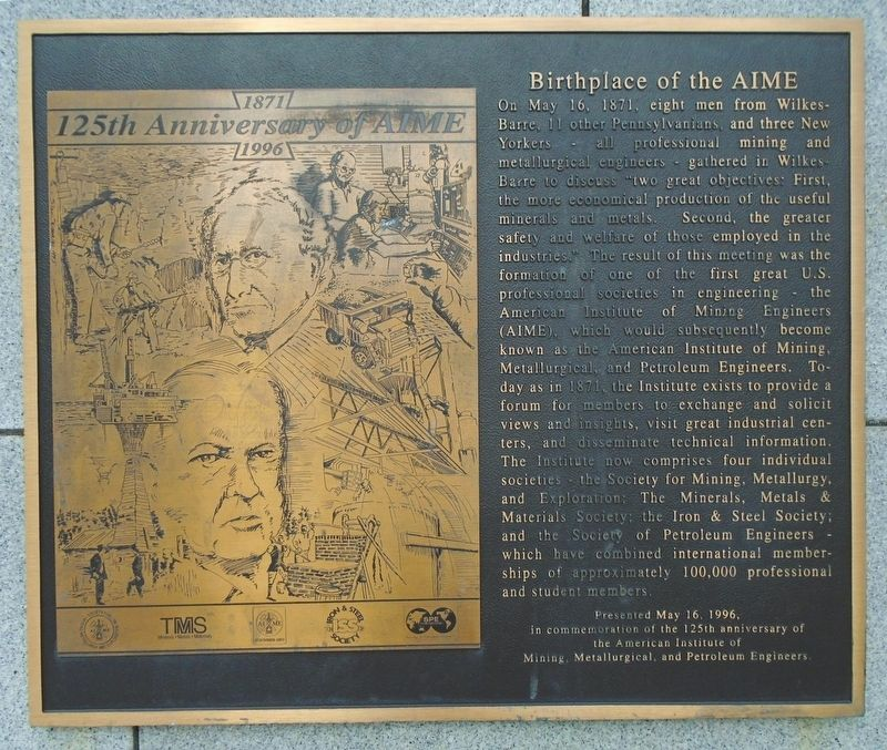 Birthplace of the AIME Marker image. Click for full size.