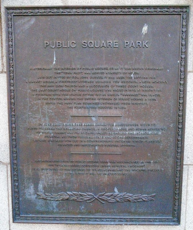 Public Square Park Marker image. Click for full size.