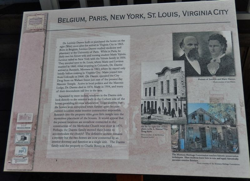 Belgium, Paris, New York, St. Louis, Virginia City Marker image. Click for full size.