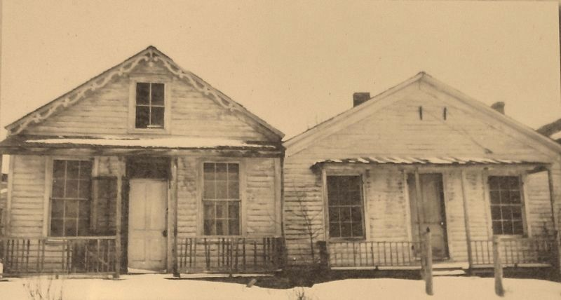 Marker detail: The Daems - Corbett homes before restoration, c. 1940s image. Click for full size.