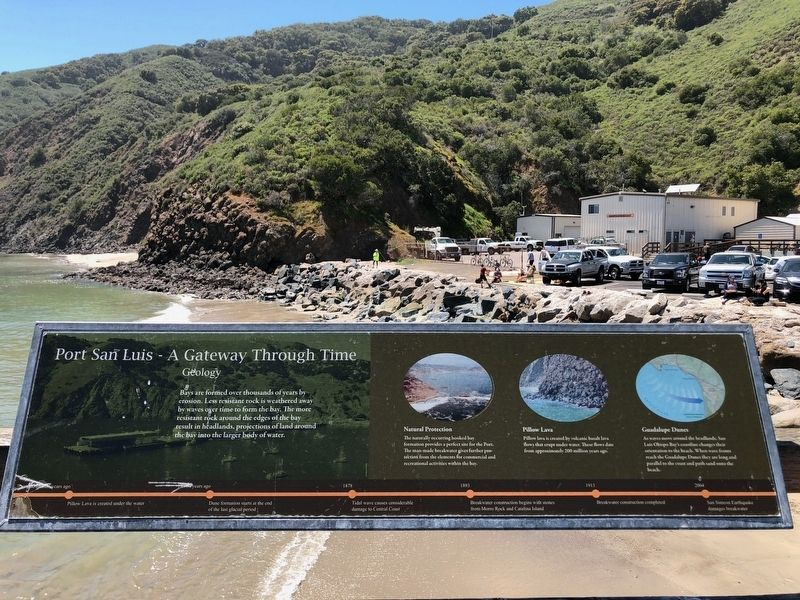 Port San Luis - A Gateway Through Time -- Geology panel image. Click for full size.
