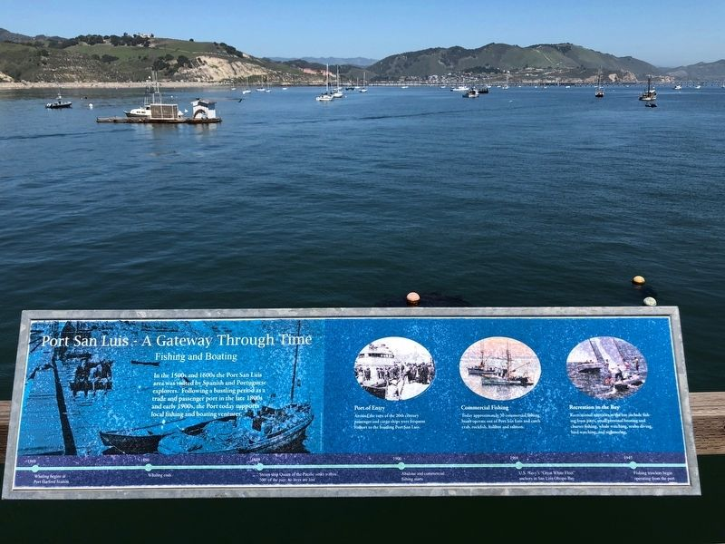 Port San Luis - A Gateway Through Time -- Boating and Fishing panel image. Click for full size.