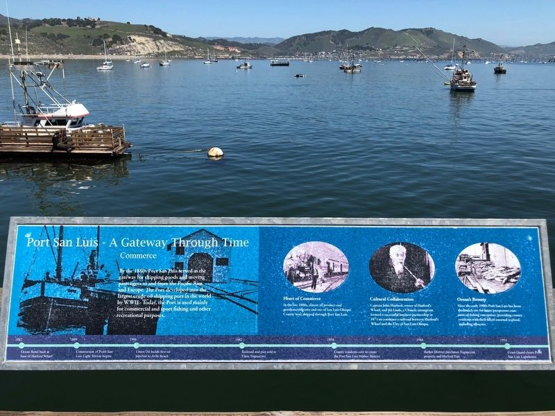 Port San Luis - A Gateway Through Time -- Commerce panel image. Click for full size.