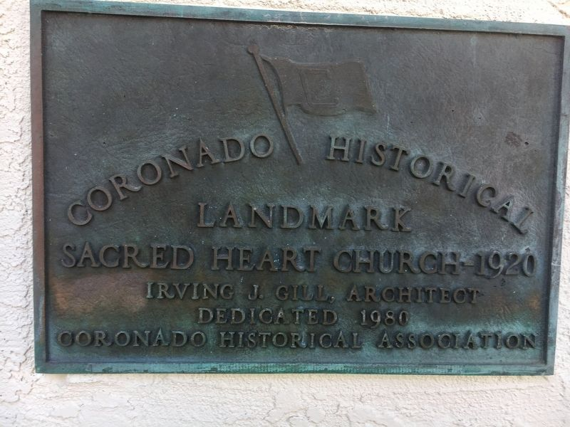 Sacred Heart Church - 1920 Marker image. Click for full size.