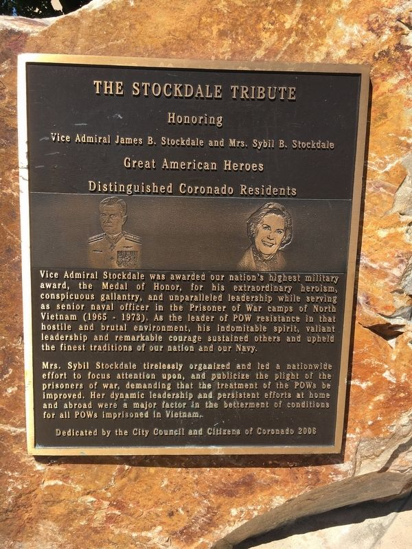 The Stockdale Tribute Marker image. Click for full size.
