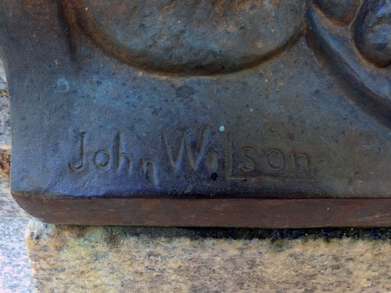 John Wilson's Signature on the Confederate Monument image. Click for full size.