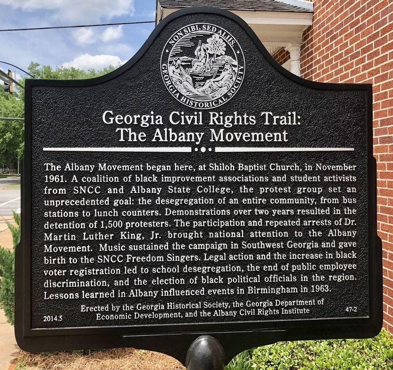 Georgia Civil Rights Trail: The Albany Movement Marker image. Click for full size.