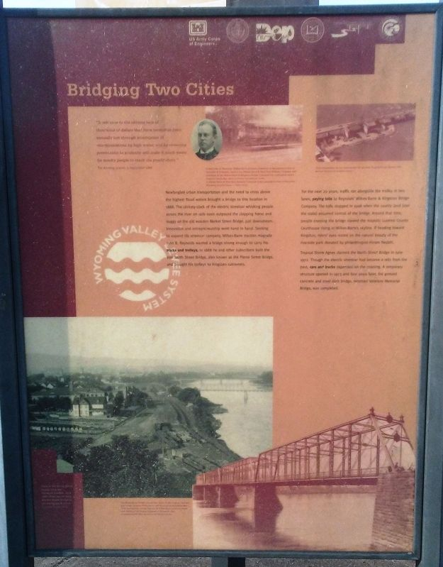 Bridging Two Cities Marker image. Click for full size.