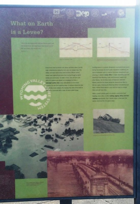 What on Earth is a Levee? Marker image. Click for full size.