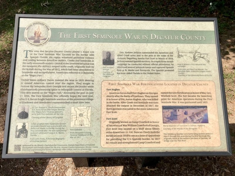 The First Seminole War in Decatur County Marker image. Click for full size.