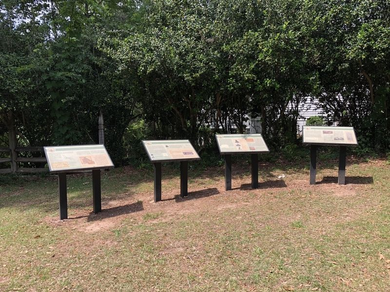 The First Seminole War in Decatur County Marker is second from left. image. Click for full size.