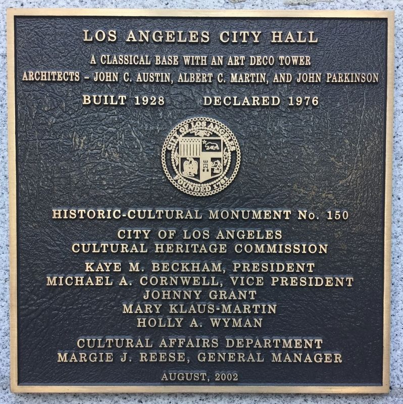 Los Angeles City Hall image. Click for full size.