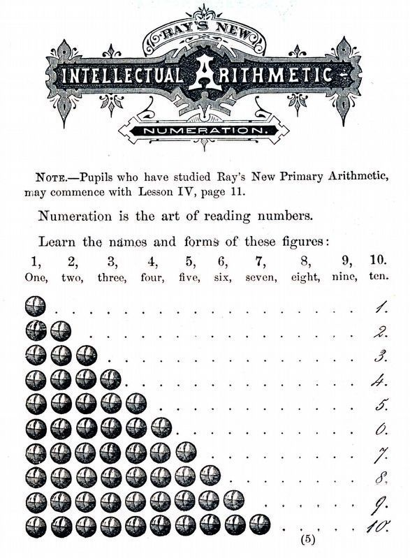 Ray&#39;s New Intellectual Arithmetic<br>by Joseph Ray, 1807-1855 image. Click for full size.