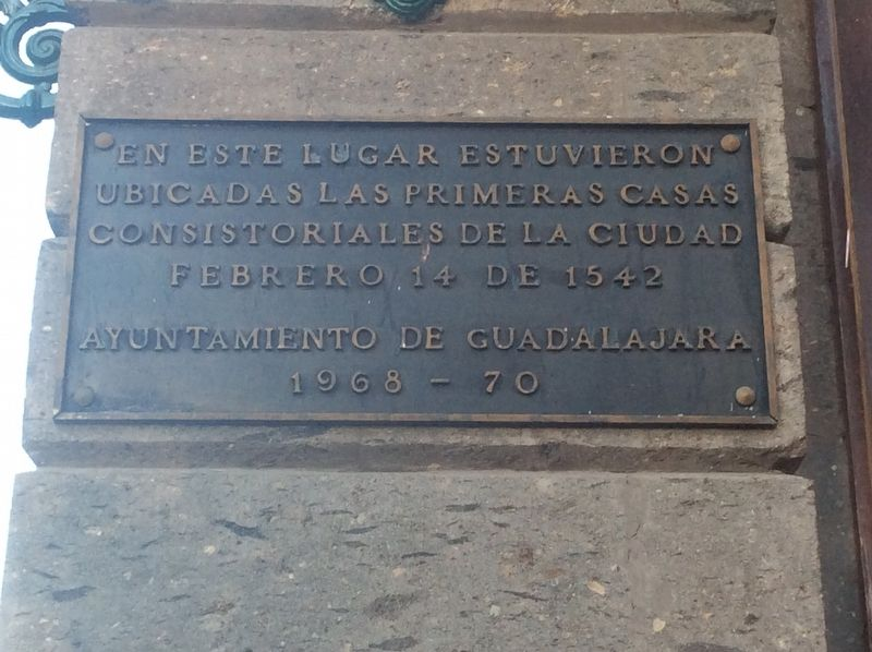 The First City Councils of Guadalajara Marker image. Click for full size.