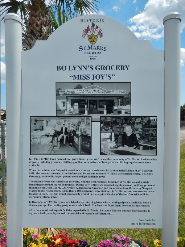 Bo Lynn&#39;s Grocery Marker (<i>front side</i>) image. Click for full size.