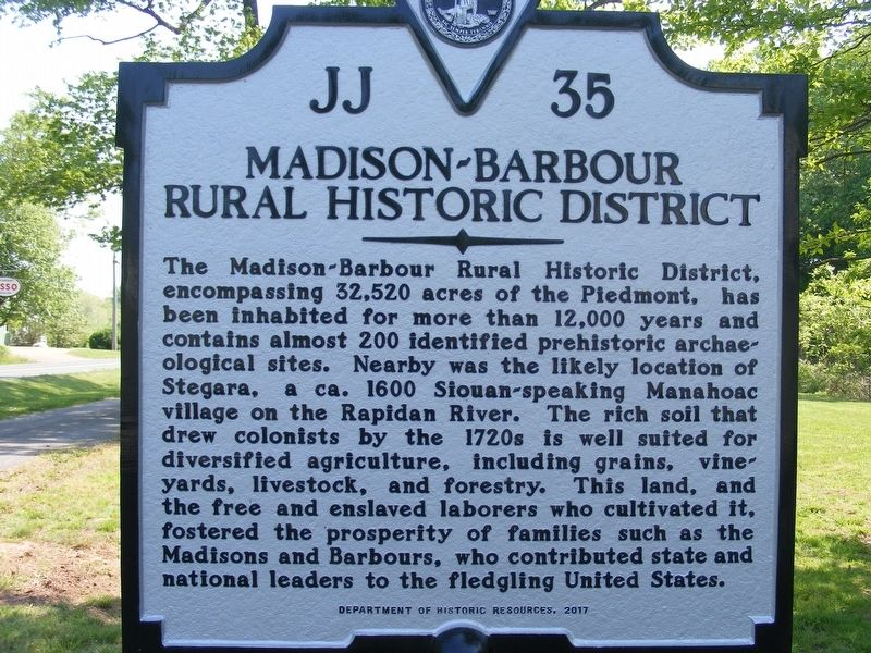 Madison-Barbour Rural Historic District Marker image. Click for full size.
